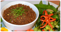 น้ำพริกปลาร้าสับ อาหารไทย เมนูน้ำพริก อาหารคลีน