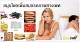 สมุนไพรเพิ่มสมรรถภาพทางเพศ สมุนไพร สมุนไพรไทย